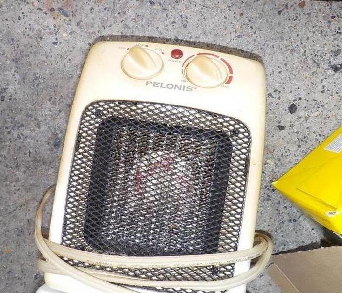 Fire Damage Wall heater fire in Tazewell,TN